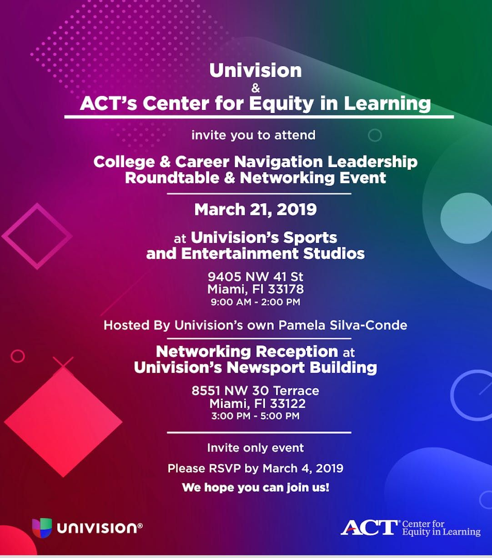College & Career Navigation Leadership Roundtable & Networking Event