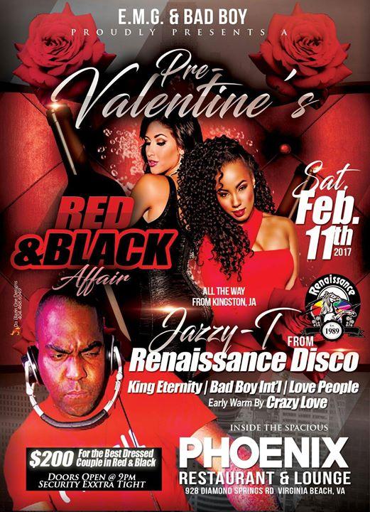Pre Valentines Red Black Affair At Phoenix Lounge Virginia Beach