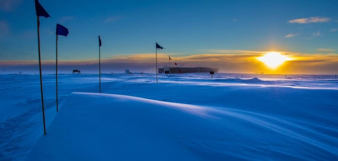 Listening to the Heart of the Sun from the Earths South Pole