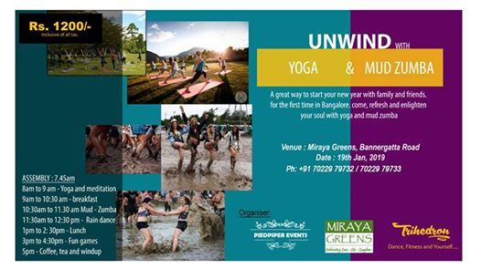 Unwind With Yoga And Mud Zumba