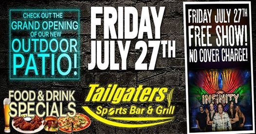 Infinity, Outdoor Patio Grand Opening, NO COVER At Tailgaters Sports Bar,  Bolingbrook