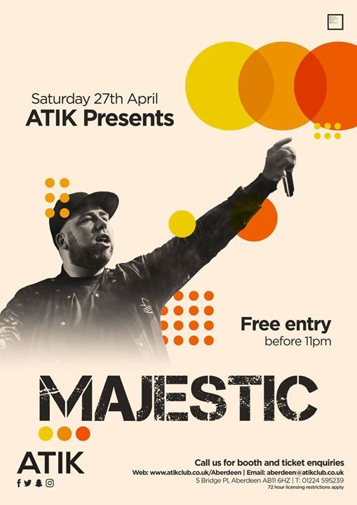 ATIK Saturdays Presents Majestic at ATIK Aberdeen, Aberdeen