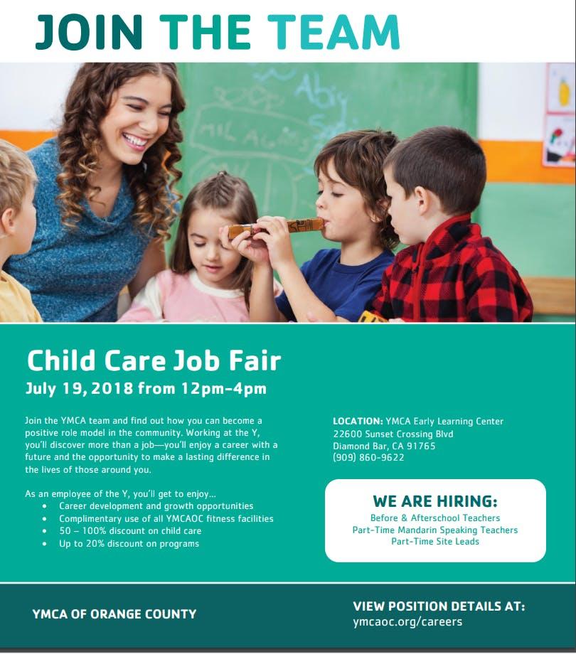 Pomona Valley YMCA Childcare Job Fair | Westmont