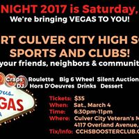 10th Annual Culver City High School Boosters Casino Night