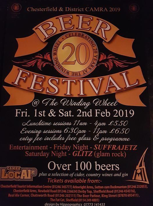 Chesterfield CAMRA Annual Beer Festival 2019