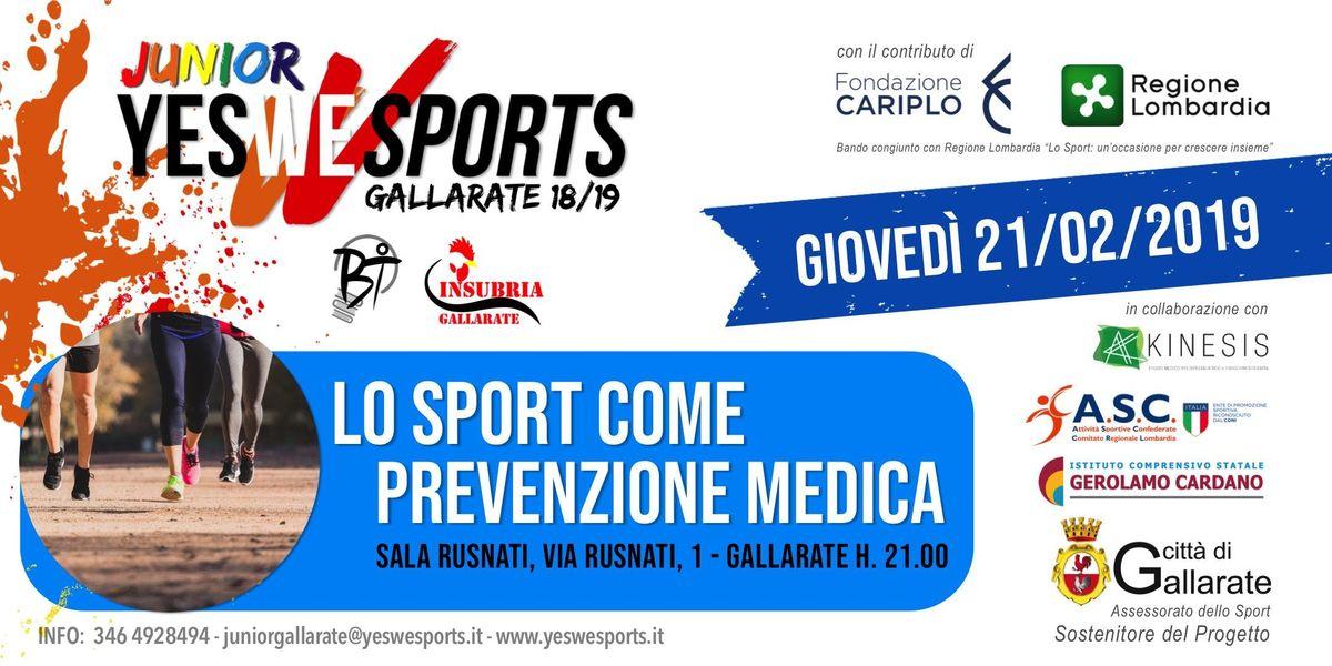 Lo sport come prevenzione medica