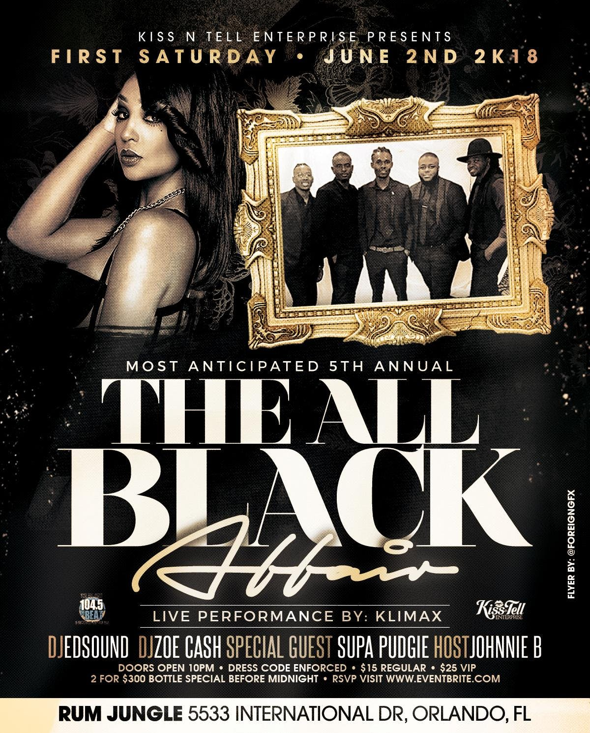 kiss n tell 5th annual all black affair orlando