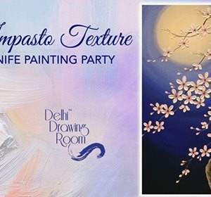 Impasto Texture Knife Painting Party Mehrauli