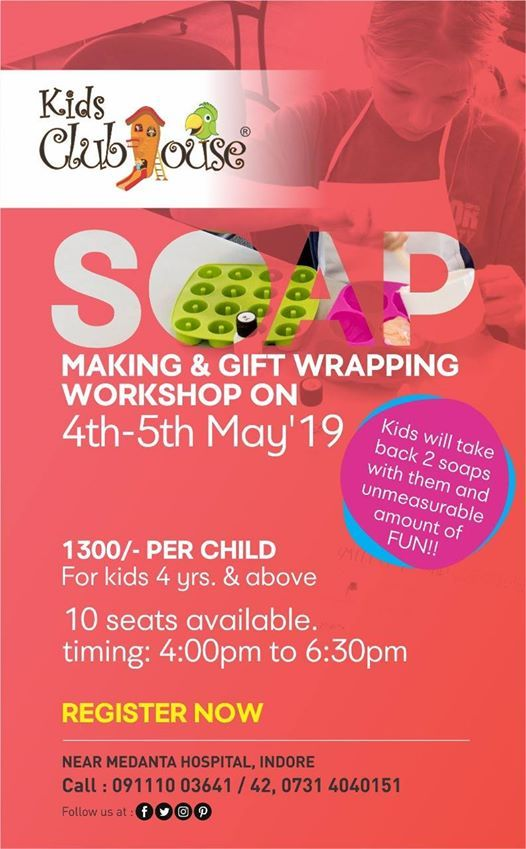 Soap Making and Gift wrapping workshop for Kids at Kids