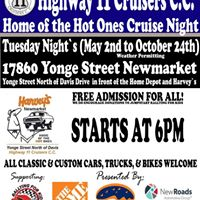 Highway 11 Cruisers Home of the Hot Ones Weekly Cruise Night