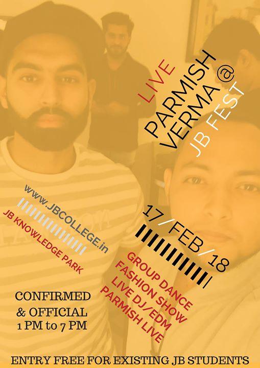 JB Fest 2018 - Parmish Verma Live