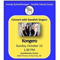 Concert with the Swedish group Kongero