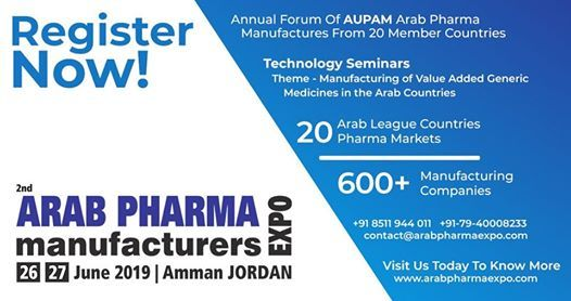 Arab Pharma Manufacturers Expo 2019 at Zara Expo, Amman