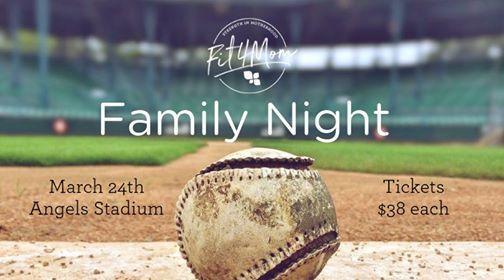FIT4MOM Family Night  Baseball Game