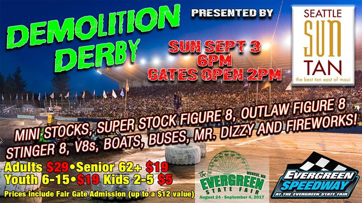 Demolition Derby Presented By Seattle Sun Tan During The Fair At