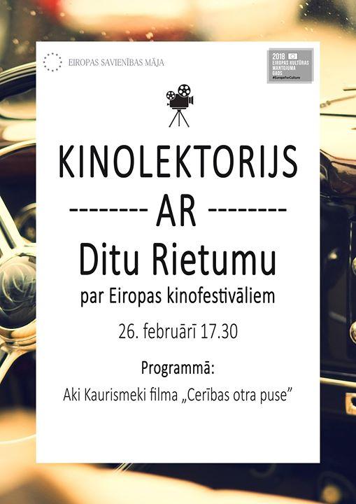 Kinolektorijs ar Ditu Rietumu par Eiropas kinofestivāliem