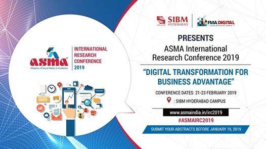 Sibm-Asma International Research Conference 2019