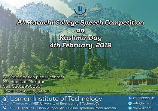 All Karachi College Speech Competition
