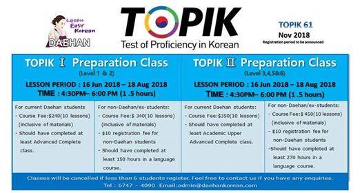 TOPIK Preparation Class by Daehan Korean