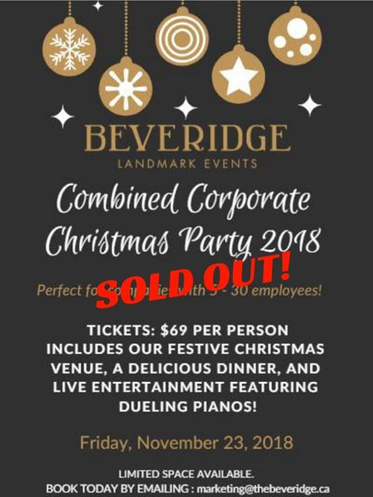 SOLD OUT Combined Corporate Christmas Party