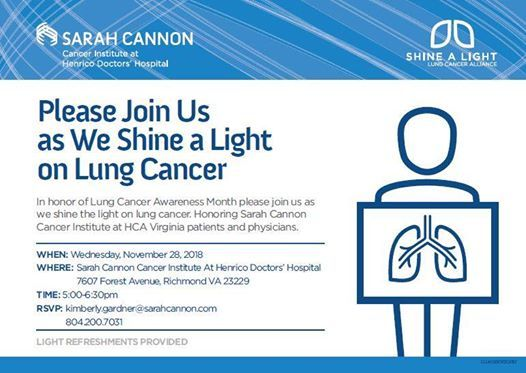 Shine A Light On Lung Cancer At Henrico Parham Retreat Doctors