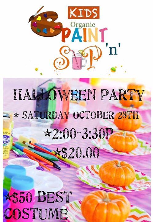 Kids Sip -n-Paint Halloween Party at Kiddy Kouturé Boutique ...
