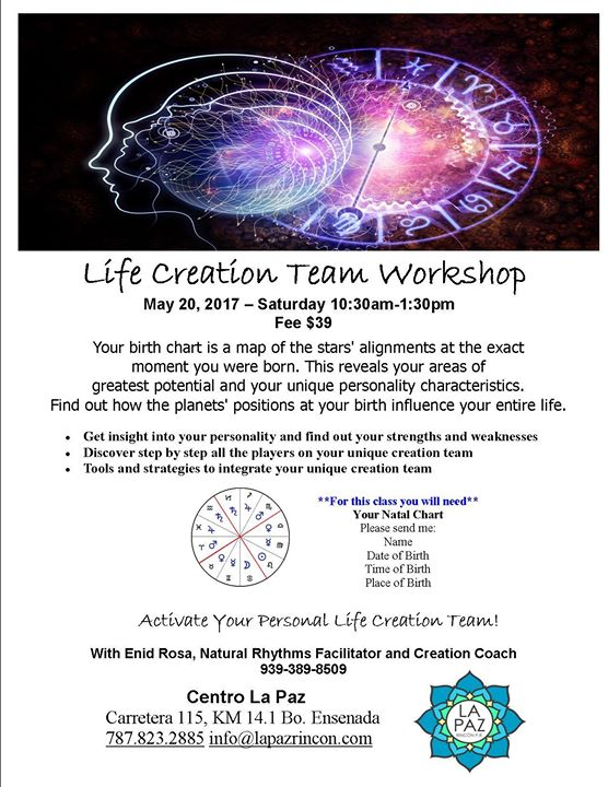 Life Creation Team Workshop with Enid at La Paz Yoga and