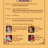 Carnatic Classical Music Concert by Vid Kalavathy Avadhoot