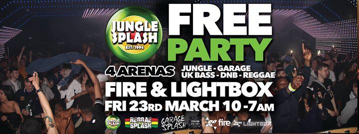 Jungle Splash Free Party Fri 23rd March