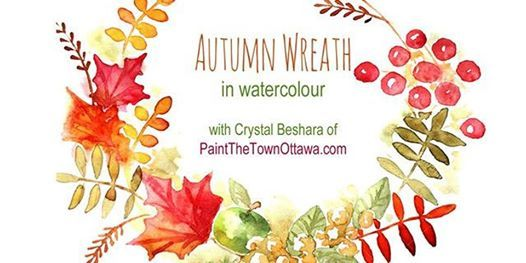 Rustic Autumn Wreath in Watercolour