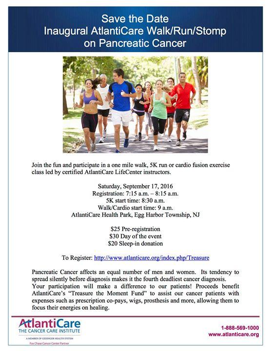 Atlanticare Walk Run Stomp On Pancreatic Cancer At 2500 English