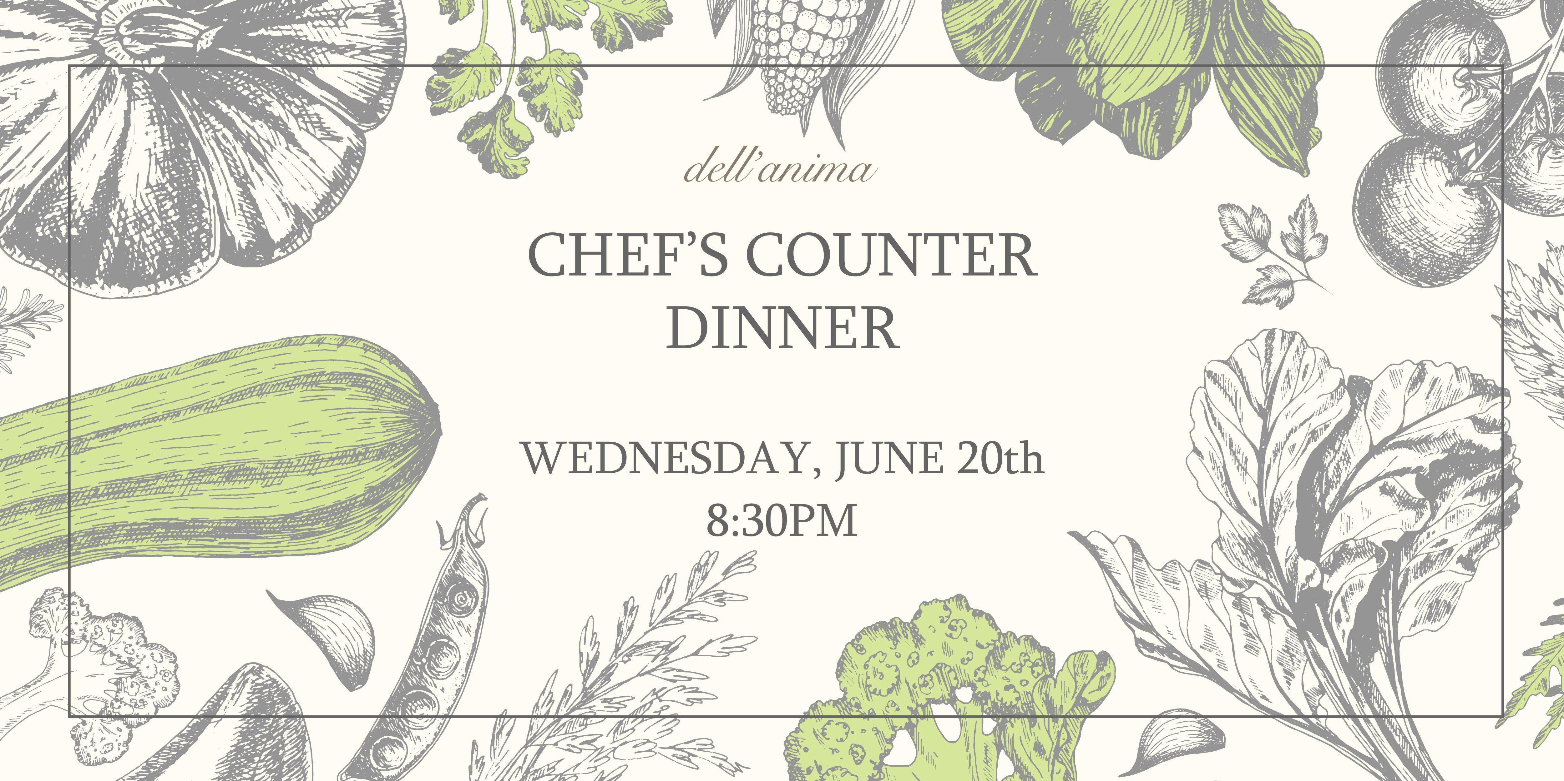 dellanima Chefs Counter Dinner June 2018