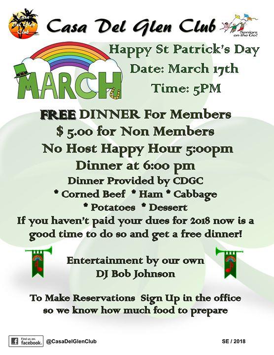 St Patricks Dinner