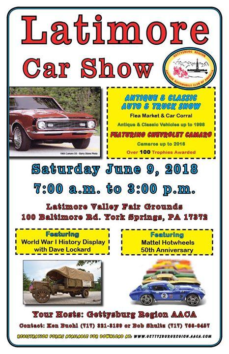 Latimore Valley Car Show At Baltimore Rd York Springs PA - Car show york pa