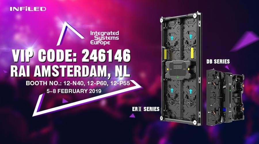 Welcome to INFiLED Booth at ISE2019 in Amsterdam