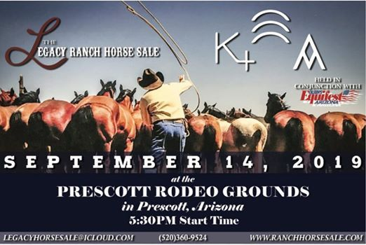 Legacy Ranch Horse Sale at Prescott Frontier Days Rodeo Grounds