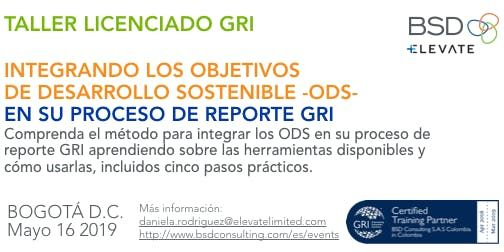 TALLER DE INTEGRACIN DE LOS ODS EN EL PROCESO DE REPORTE A TRAVS DE LOS CONTENIDOS GRI