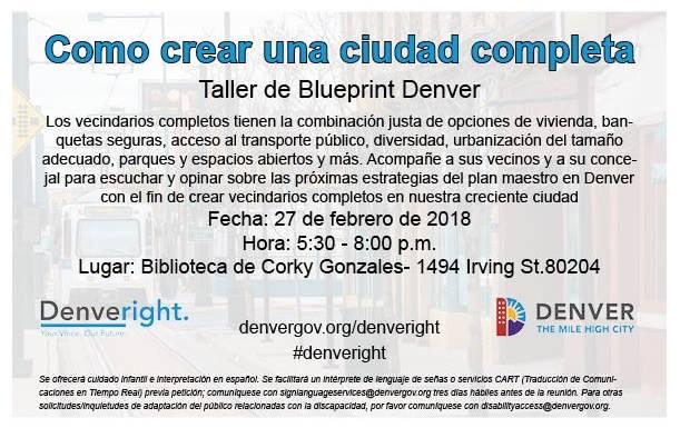 Taller de blueprint denver at councilman paul d lpez city taller de blueprint denver malvernweather Images