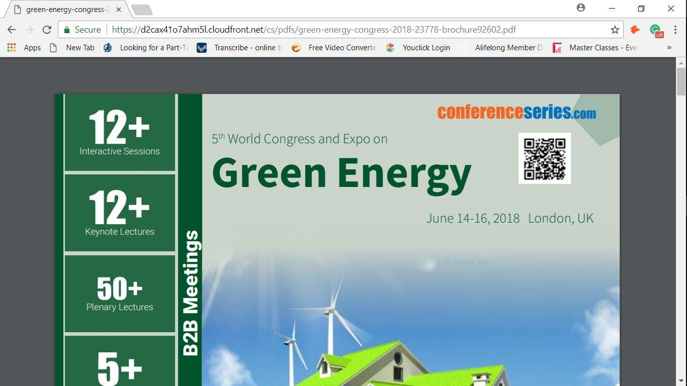5th World Congress and Expo on  Green Energy (cse) S