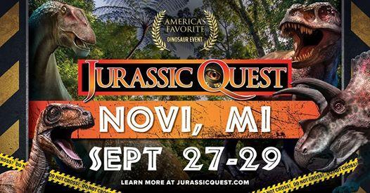 Jurassic Quest | Novi, MI at Suburban Collection Showplace, Novi