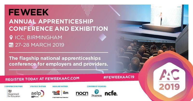Exhibition Only - FE Week Annual Apprenticeship Conference & Exhibition2019