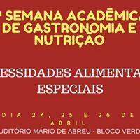 1 Semana Acadmica de Gastronomia e Nutrio