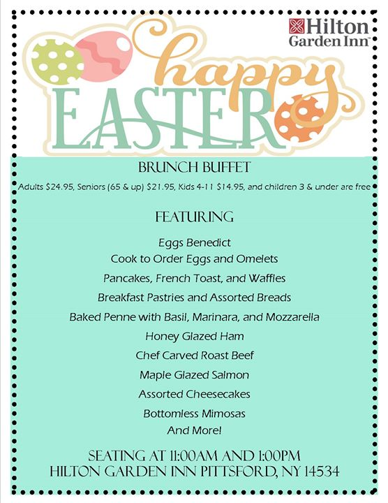 Easter Brunch! at Hilton Garden Inn - Rochester/Pittsford, NY, Pittsford