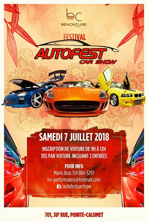 AUTOFEST CARSHOW At Beach Club PointeCalumet - Orange beach car show 2018