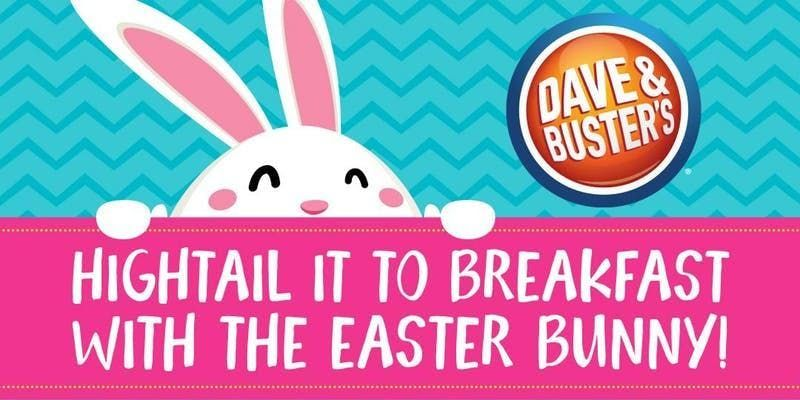 Dave & Busters Houston Marq-e Breakfast with the Easter Bunny