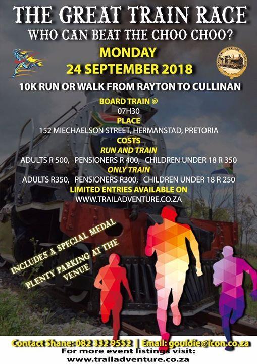 The Great Train Race 10k Run or Walk