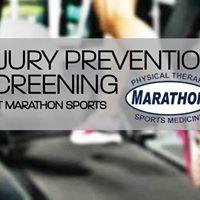 Morning Session Free Injury Screenings with Marathon PT