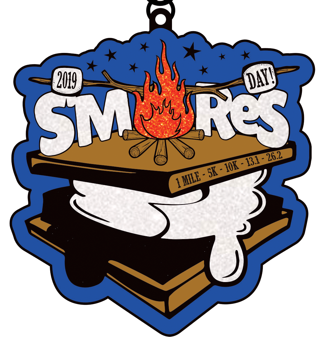 2019 Smores Day 1 Mile 5K 10K 13.1 26.2 -Pittsburgh