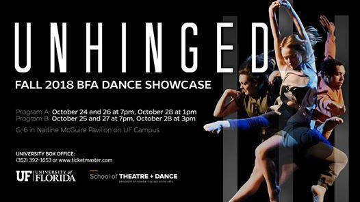 Unhinged Fall 2018 BFA Dance Showcase