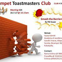 Nizampet Toastmasters Meeting 24